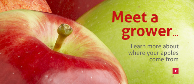 Meet the grower. Learn more about where your apples come from