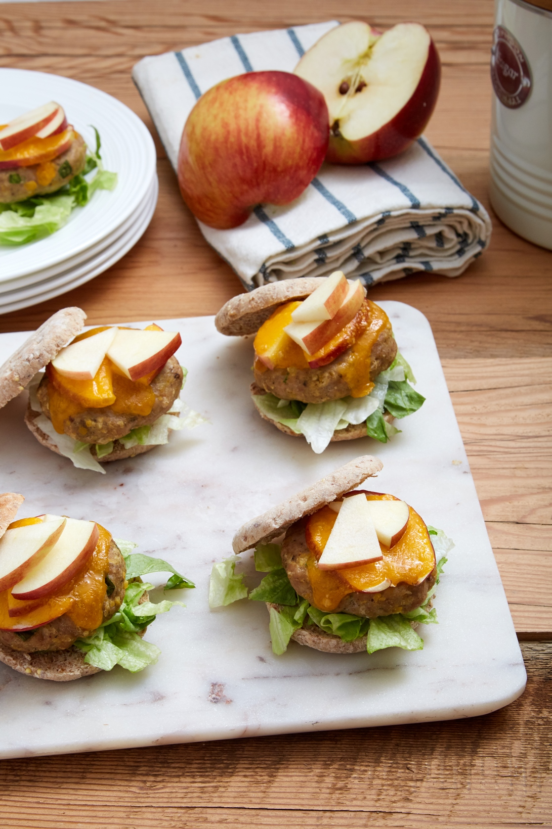 Apple Cheddar Turkey Sliders