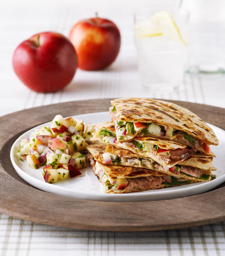 Quesadillas with Ontario Apple Salsa
