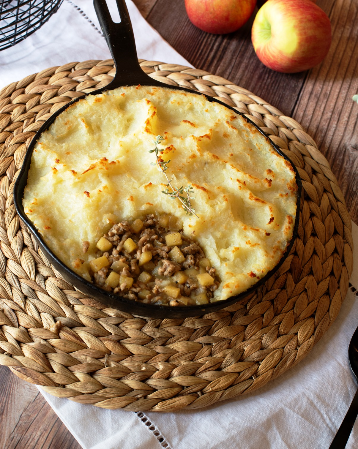 Apple & Sausage Shepherds Pie